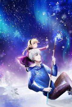Elsa et Jack Frost