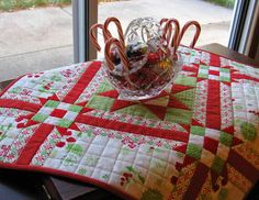 A fat quarter here, a quarter of a yard there, a small scrap of something else, and an idea...
