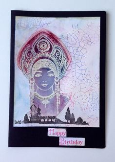 Chocolate Baroque - Katya, Silhouette PalacesLarge Crackle Background stamps