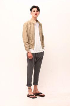 One good way to wear basic blouson.  Model Kim Won-Jung