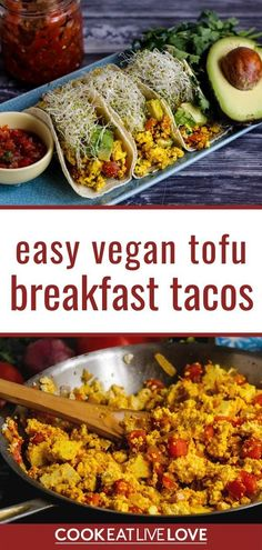 Making a healthy and easy tofu scramble for breakfast tacos is the perfect solution for a delicious and satisfying way to start the day. This vegan recipe is perfect for breakfast meal prep to help you save some time. Read more for the recipe and tips for meal prep. And don't forget to signup for my email list for more meal prep tips and recipes like this one straight to your inbox. Spicy Vegetarian Recipes, Vegetarian Breakfast Recipes, Tofu Recipes, Tofu Breakfast, Make Ahead Breakfast Casserole, Breakfast Ideas, Tips For Meal Prepping, Vegan Meat Substitutes, Homemade Tofu
