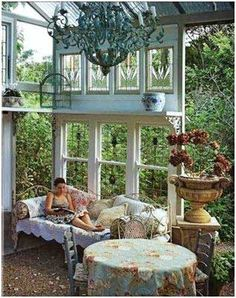 .Now, isn't this a lot cooler than a basic screened in porch.