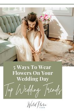 Wearable flowers are the latest wedding trend, and The Barn of Chapel Hill has 5 of the best ways to incorporate wearable flowers into your celebration, everything from wearable bridesmaid's bouquets to florals for your pets. Check out the blog and be inspired to add wearable flowers to your celebration. Wedding Hair Flowers, Flowers In Hair, Wedding Bouquets, Wedding Trends, Wedding Tips, Wedding Styles, Flora Farms, Honeymoon Planning, Wedding Etiquette