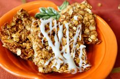 Pumpkin Granola Bars on http://thejoyofeverydaycooking.com