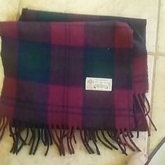 """Scottish lambswool 100% Its a Vintage 100% pure lambswool made in Scotland.Its 54"""" long.In excellent condition! Very warm and beautiful colors and is very soft:) Accessories Scarves & Wraps"""