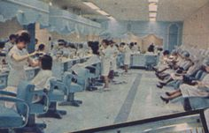 A view in the Beauty Salon at Hess's Department Store, Allentown, PA.