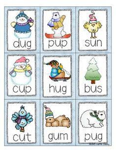 Fun CVC Game for the Winter!! Repinned by SOS Inc. Resources pinterest.com/sostherapy/.