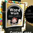 FREEBIE- cover pages for mini-chart stand for different content areas   The 8 cover content pages include: Math Reading Writing Word Work Health Science Social Studies Other