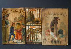 Antique 19th Century Paper Toy Book, La Menagerie