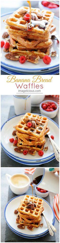 Banana Bread Waffles - it's like having dessert for breakfast | Imagelicious