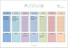 putzplan vorlage familie planen pinterest putzplan. Black Bedroom Furniture Sets. Home Design Ideas