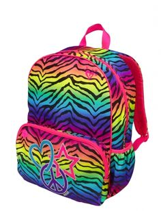 Personalized Zebra Backpack - Girls Canvas Booksack Zebra with ...