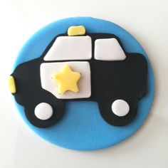 Police Car Cupcake Toppers