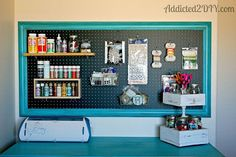 craft room pegboard organization, craft rooms, diy, home decor, how to, I love having a place to put all of my paints and miscellaneous craft supplies