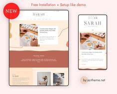 WordPress Theme WordPress Portfolio Theme WordPress Blog | Etsy Web Themes, Website Themes, Blog Layout, Grid Layouts, Blog Names, Instagram Widget, Header Image, Simple Elegance, Accent Colors
