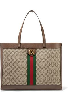 Get one of the hottest styles of the season! The Gucci New Ophidia Large Brown Gg Supreme Canvas Tote is a top 10 member favorite on Tradesy. Save on yours before they're sold out! Gucci Handbags, Handbags Michael Kors, Louis Vuitton Handbags, Gucci Purses, Gucci Gucci, Double G, Striped Tote Bags, Vuitton Bag, Large Tote
