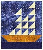 Tall Ships Quilt Block Pattern. I need to find an excuse to use this block. Maybe in the fabrics Sunshine picked out.