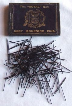 Mourning pins are pins which are meant to be worn during a period of mourning, and they are typically accompanied with other pieces of mourning jewelry such as earrings, rings, and bracelets. Since specific clothes and jewelry for mourning are rarely made in the modern era, most modern mourning pins are antiques, and some of them are prized family heirlooms.