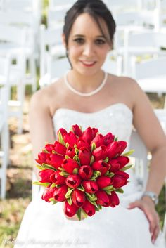 Lovely bride Monica Reyes Guerra with her wedding flowers <3 We love it!   In addition to weddings, we photograph quinces/sweet 16's, maternity, babies, kids, engagement shoots, and family portraits.  For more information visit our website: www.WeddingPhotographyByLiam.com  #miami #photographers #wedding #bride