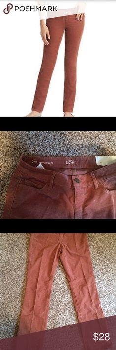 Ann Taylor loft brown pants Pretty color , very soft and comfortable LOFT Pants Straight Leg