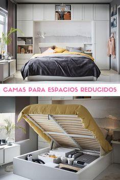 Soluciones para dormitorios pequeños. #camas #espaciospequeños #camasabatibles #estiloydeco Bunk Beds, Ideas Para, Furniture, Decoration, Home Decor, Ikea Furniture, Decorating Rooms, Mattress Springs, Decor