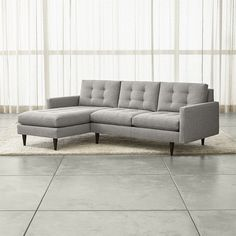 Crate & Barrel Petrie 2-Piece Left Arm Chaise Sectional Sofa (4,190 CAD) ❤ liked on Polyvore featuring home, furniture, sofas, crate and barrel couch, crate and barrel, crate and barrel sofa, left arm sofa and crate and barrel furniture