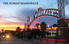 Kemah Boardwalk, Clear Lake, Texas  I would love to go here sometime for a MINI Vacation.
