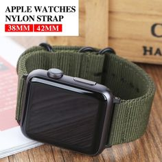 Hot Sell Nylon Watchband for Apple Watch Band Series Sport Leather Bracelet 42 mm 38 mm Strap For iwatch Band Apple Watch Series 3, Apple Watch 3, Apple Watch Bands Mens, Leather Watch Bands, Sport Watches, Watches For Men, Men's Watches, Sport Armband, Apple Products