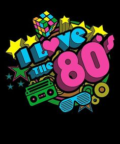 & love the retro poster by zenspired - If you were born in the or know someone who has helped them, celebrate this fantastic decade wi - Birthday Party For Teens, 80th Birthday, Bolo Neon, Adult Party Themes, 80s Theme, 80s Kids, Partys, Party Planning, Crafts