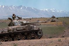 "bmashina: ""Israeli M51-Supersherman on the Golan heights during the six-day war. """