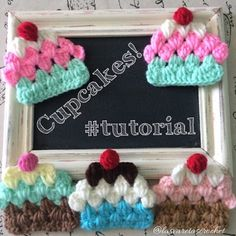 Tutorial: Cupcakes a Crochet (estilo Granny)