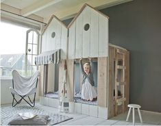 "Etagenbett ""Strandhaus"" - Kinderbett aus Bauholz"
