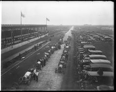 Vanderbilt Cup in 1910 was held in Long Island, NY.  A special venue and locale; the cup was held on Vanderbilt's dream track for two more years, but began to move around the country after that. It was finally canceled for good when America entered World War I. The image you see here is from the last event held on Long Island.