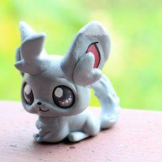 Minccino Pokemon inspired Littlest Pet Shop custom