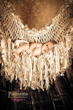 Sepia Brown PROP Hammock for Baby:  Another Original Design by BabyBirdz (if u click thru u'll see how to use for maternity pics, too!), $95.00
