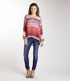 Michael Stars silk top!! Love the colors! www.sohoclothiers.com