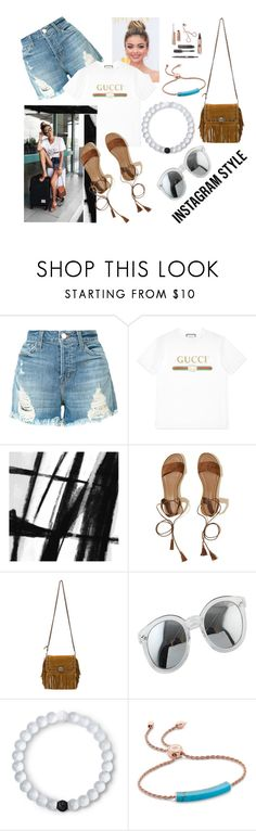 """Instagramm"" by babalucreaguilar ❤ liked on Polyvore featuring J Brand, Gucci, Art Addiction, Hollister Co., Coach 1941, Lokai, Monica Vinader, 60secondstyle and PVShareYourStyle"