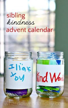 Help kids be kind with a sibling advent calendar. The effects will last all year.