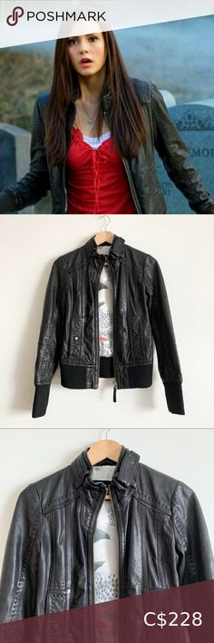 I just added this listing on Poshmark: Mackage for Aritzia Ellie Black Leather Jacket. #shopmycloset #poshmark #fashion #shopping #style #forsale #Mackage #Jackets & Blazers Navy Leather Jacket, Denim Bomber Jacket, Faux Leather Jackets, Black Leather, Mackage Jacket, Suede Pencil Skirt, Lace Back Dresses, Elena Gilbert, Long Blazer