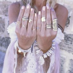 Bohemian rings. For more follow www.pinterest.com/ninayay and stay positively #pinspired #pinspire @ninayay