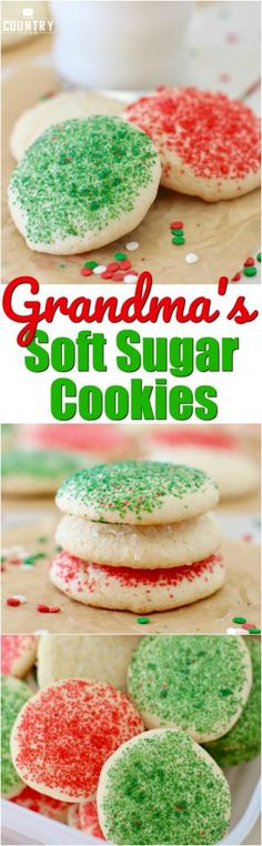 Grandma's Soft Sugar Cookies recipe from The Country Cook and Stevia #intheraw #ad #cookies #christmas #cookieexchange #cookieswap