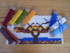 madebyjoey: waldorf crafts: cross stitch pencil case