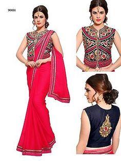 New Indian Partywear Wedding Saree Reception Bollywood Sari Designer T90031.V