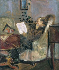 Edvard Munch - 1881, his father Christian Munch on the Couch