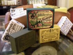 Soap, soap, soap. The best soaps come from the oldest perfumery/pharmacy in the world. Santa Maria Novella in Florence, Italy.