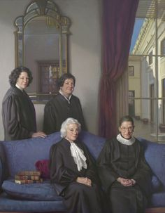 This painting of the four female Supreme Court justices will be on display at the National Portrait Gallery for three years. (Nelson Shanks/National Portrait Gallery)
