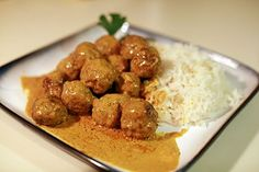 Lamb Meatballs in Curried Coconut Cream | Lamb Recipes