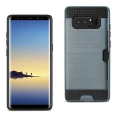 REIKO SAMSUNG GALAXY NOTE 8 SLIM ARMOR HYBRID CASE WITH CARD HOLDER IN NAVY
