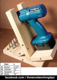 Cordless Drill Stand | WoodworkerZ.com