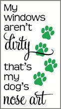 Dog Wall Decal Art with Paw prints - Humor your company with this fun Design Quote